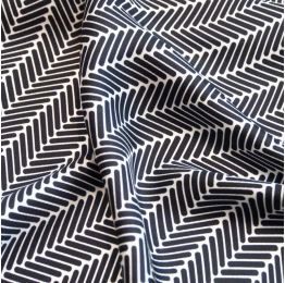 Black Herringbone Silk Scarf