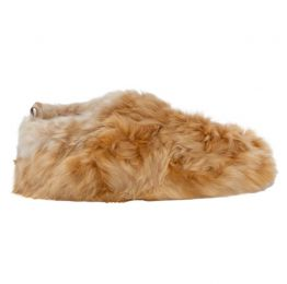 Honey Swirl Alpaca Fur Slippers