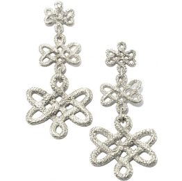 Tulola Infinity Knot Cascade Platinum over Silver Earrings