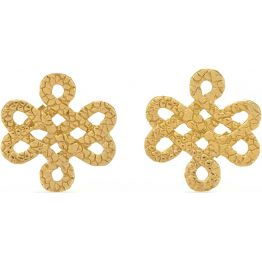 Tulola Infinity Knot 18k Yellow Gold Vermeil Studs