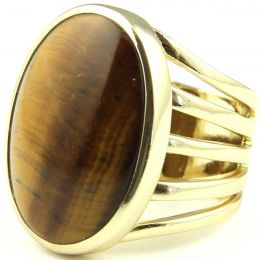 Isharya Gypsy Center Stone Ring Tiger's Eye