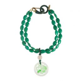 Jade Pendant Necklace in Green