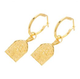 Kali Amulet Hoops 22ct Gold Vermeil