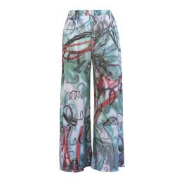 Koval Silk Trousers Love Print
