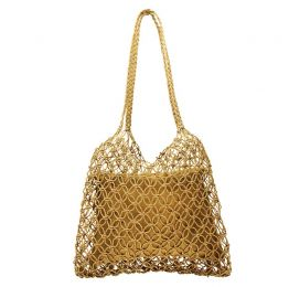 La Isla Woven Bag in Tan