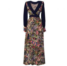 LARICA Hand-painted print maxi dress