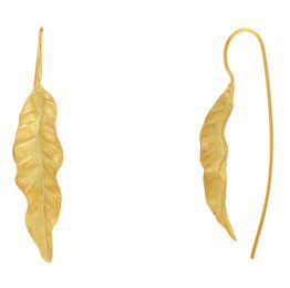POTC Jewellery - Leaf Drop Threader Earrings