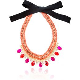 Limosa Red and Pink Crystal Necklace