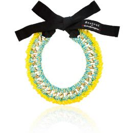 Lole Yellow Crystals Embellished Necklace
