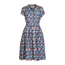 Louise - Tencel Blue Show Pony Dress