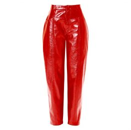 Madison High Risk Red Patent Vegan Leather Pants