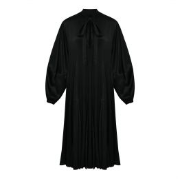 Maggie Black Silk Satin Dress