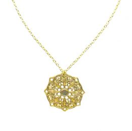 Mandala 18k Gold Plated Necklace | Lucy Ashton