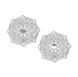 Mandala Sterling Silver Stud Earrings | Lucy Ashton