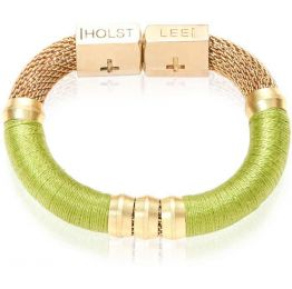 Color Block Mesh Lime Green Bracelet | Holts + Lee