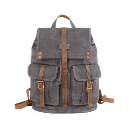 Military Style Waxed Canvas Backpack