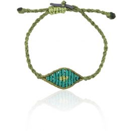 Mini Aqua All Seeing Eye Bracelet