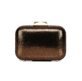 Nadia Bronze Leather Clutch