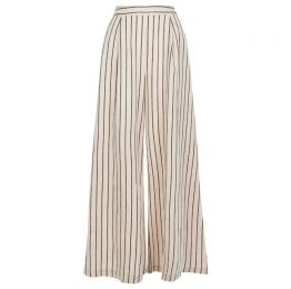 Nervous Sailor Wide Leg Trousers in White