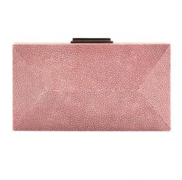 Oxblood Diamond Clutch Stingray Leather | NAMU