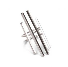 Parallel Ring Sterling Silver