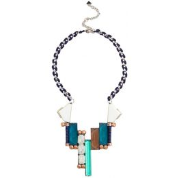 NOCTURNE Paz Pastel Multicolour Pendant Necklace