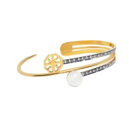 Rema Luxe Pearl Infused Palm Band with Cubic Zirconia