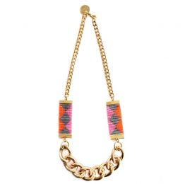 Priestess II Necklace - Pink and Orange | Shh by Sadie
