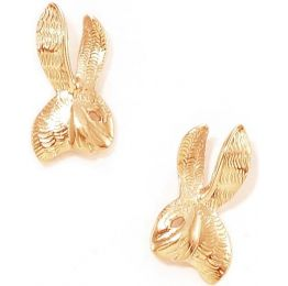 Tulola Rabbit Studs Rose Gold Vermeil