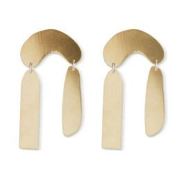 Rain Brass Earrings