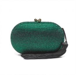 Raphael Green Crystal Clutch