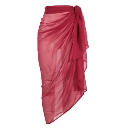 Chiffon Sarong in Red