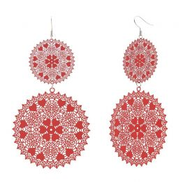 POTC Jewellery - Red Brass Lacework Earrings