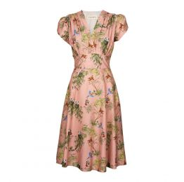 Rita - Rose Jungle Tree Tops Dress | Tencel