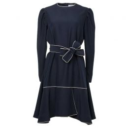 Royal Blue Crepe Loose Silhouette Dress