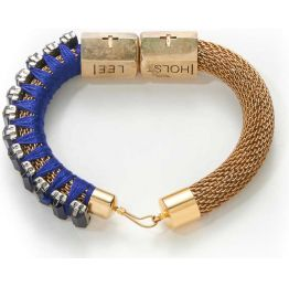 Holts + Lee Royal Blue Rhinestone Bracelet
