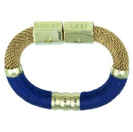 Holts + Lee Colour Block Mesh Royal Blue Bracelet