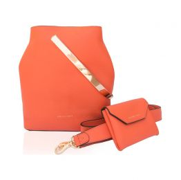 Salmon Orange Carine Tote