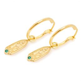Sarnath Hoops 22ct Gold Vermeil Earrings