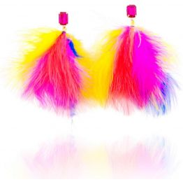 Sasia Multi Rainbow Crystal Earrings by Revival for I Love Designer