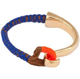 Shashi NY Riley Cobalt and Gold Cuff Bracelet