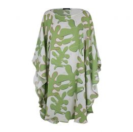 Short Kaftan Dress Leaf