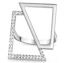 Silver Square Ring | OSYLIA London
