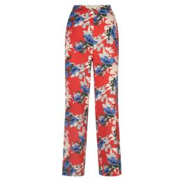 Sing Flora Red Wide Leg Trousers