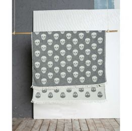 Skull Peshtemal Traditional Turkish Towel