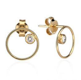 Maria Anita Solitaire 18k Gold Diamond Earrings