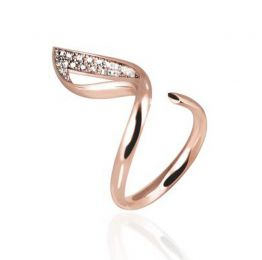 Solo Luce Ring in Rose Gold | OSYLIA London