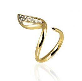 Solo Luce Ring in 14k Yellow Gold | OSYLIA London