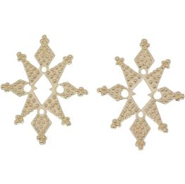 Zoe & Morgan Star Dust Gold Earrings