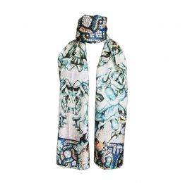Statues and Mosaics Scarf - Blue